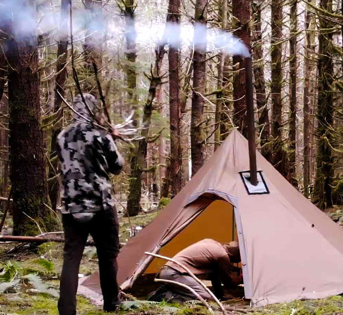 Octopeak Tipi 6-person Wood Stove Tent (User Guide) Video