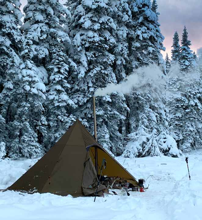 Winter Camping: Octopeak Tipi Wood Stove Tent Mountain ...