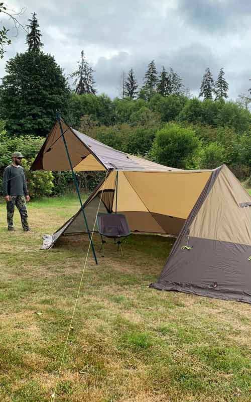 Twinpeak 5-person Awning Tent with Stove Jack Quick Look Video