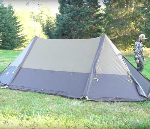 Twinpeak Wood Stove Tent (5p) with Awning: User Guide Video