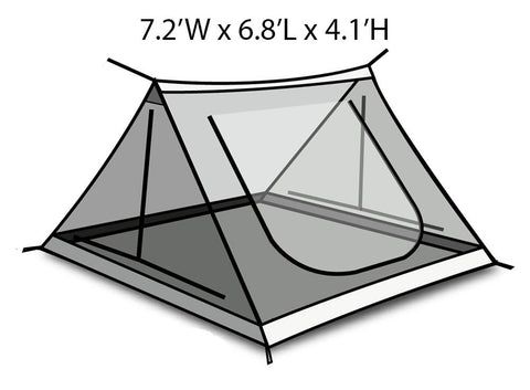Ridgeline 4-person Inner Tent Spec Chart