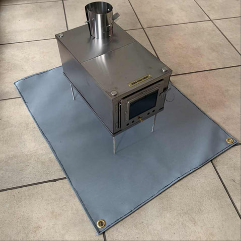 Fireproof Mat with Tent Wood Stove