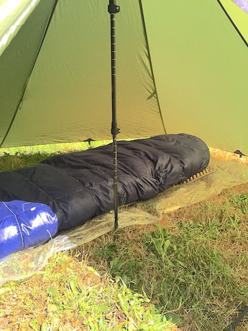 Floorless Tent using Grondsheet
