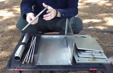 Folding Stove Wall Assembly