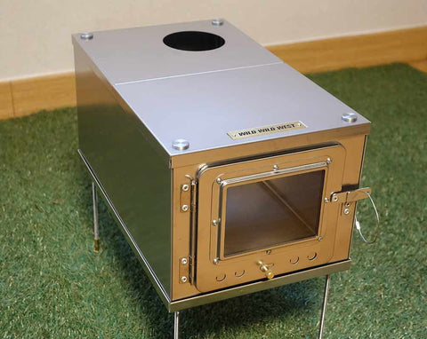 Folding Wood Stove with Glass Door