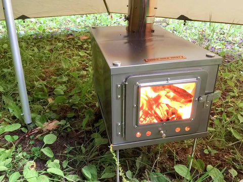 Folding Titanium Tent Wood Stove
