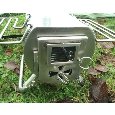 Gstove Tent Wood Stove with Glass Door and Vent