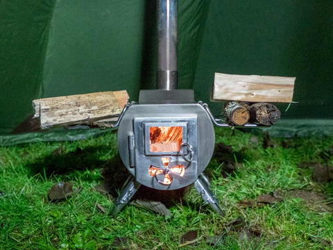 Gstove Wood Stove In Tent Drying Wood