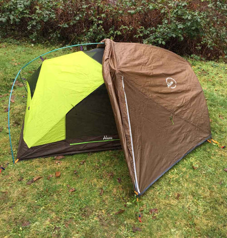 Habitat NX Tent with Rainfly Rolled Back
