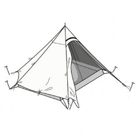 Hexpeak XL Inner and Outer Tent Chart