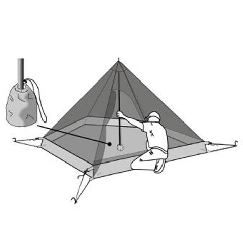 Hexpeak XL 2.5 person Inner Tent Graphic