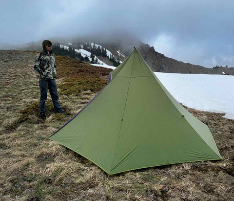 Hexpeak XL 3-person Tipi Backpacking in Mountains