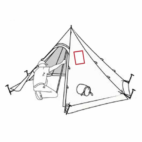 Hexpeak XL Tipi with Stove Jack