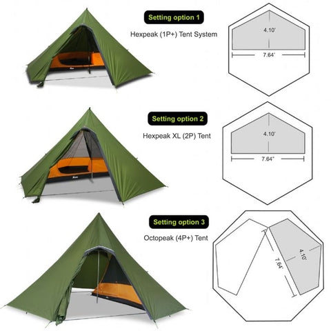 Half-Hex Solo Inner in Different Luxe Shelters