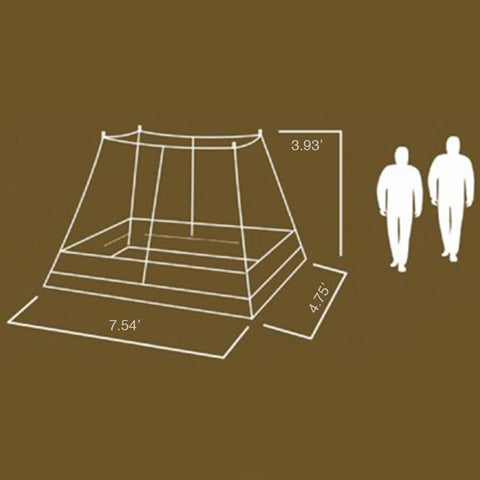 Megahorn Teepee with Inner Tent and Two Persons