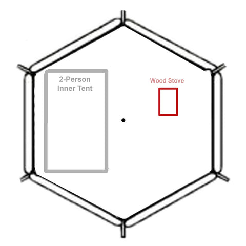 Megahorn 2-Person Inner with Wood Stove Chart