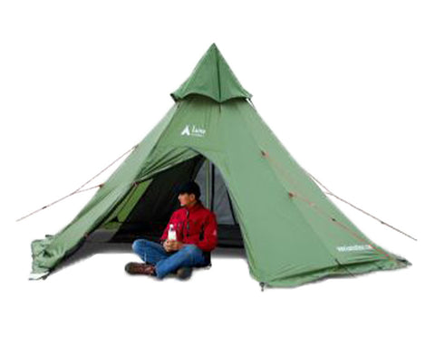 Megahorn Teepee with Inner Tent and Person