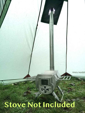 Portable Wood Stove for Tents & Megahorn Teepee (4P) Outer Tent with Stove Jack Pre-Order u2013 Luxe ...
