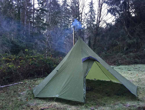 Octopeak Floorless Teepee with Wood Stove & Octopeak Teepee (6P Outer Tent with 4P Inner) System u2013 Luxe Hiking ...