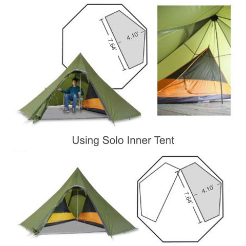 Octopeak Teepee with Solo Inner Tent