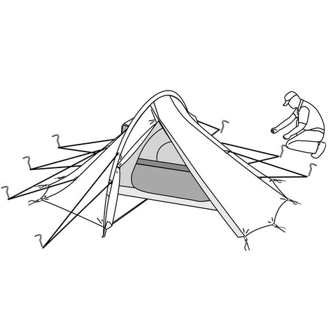 Peakarch Tent with Guylines