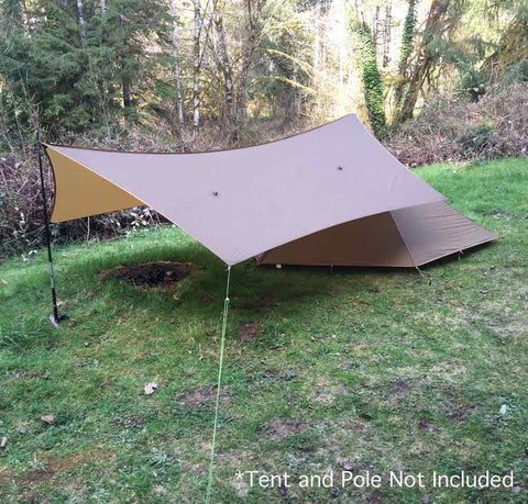Polatouche Tarp as Tent Awning