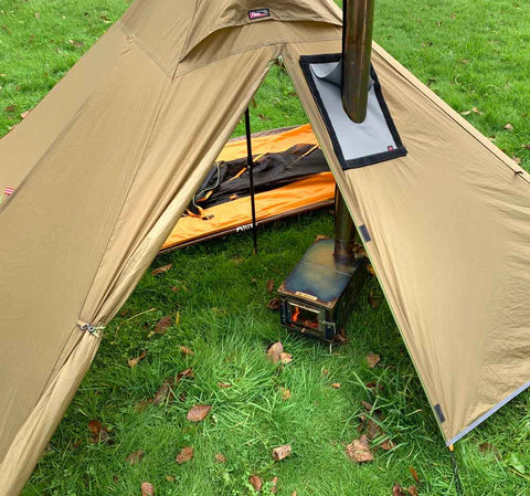 Pyramid Hot Tent with 1-person Inner