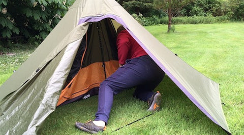 Inserting Inner Tent in Teepee