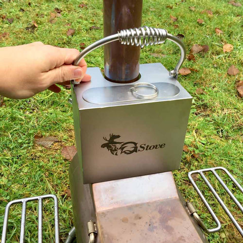 Tent Stove Hot Water Tank with Bail Handle