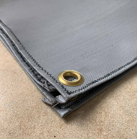 Wood Stove Mat with Grommets