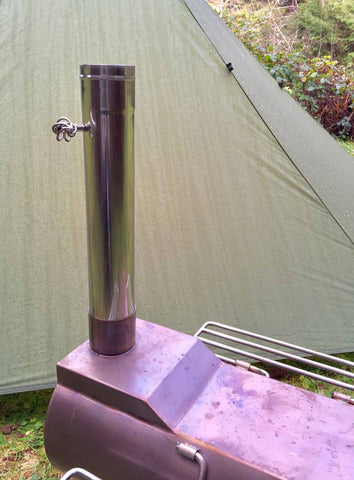 Damper Pipe 14 3 Quot X 2 3 Quot Stainless Steel For Tent Stoves