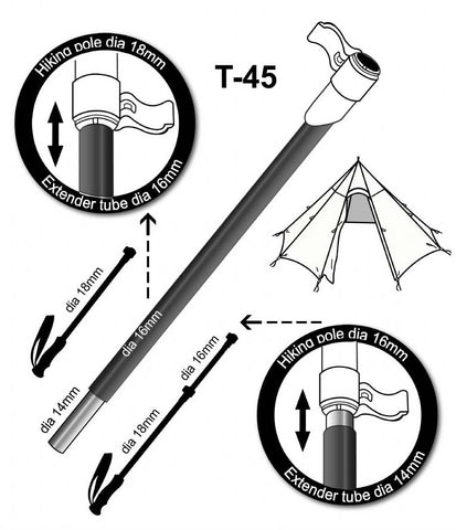 T-45 Pole Extension Chart