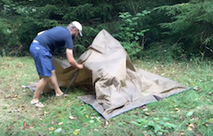 Taking Down a Pyramid Tent