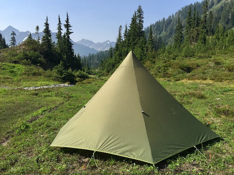 Teepee Tent Camping in the Backcountry