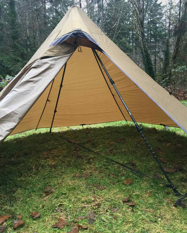 Hexpeak Teepee with No Center Pole