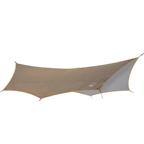 Batwing Camping Tarp in Dirt Brown