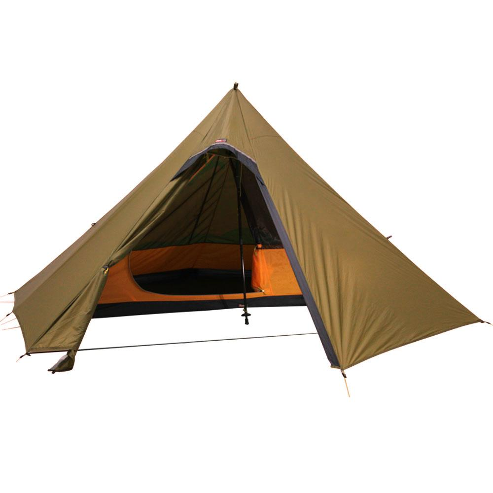 ... Hexpeak Trekking Pole Teepee with Solo Inner Tent in Brown ...  sc 1 st  Luxe Hiking Gear & Hexpeak Teepee (2P) Trekking Pole Outer Tent u2013 Luxe Hiking Gear