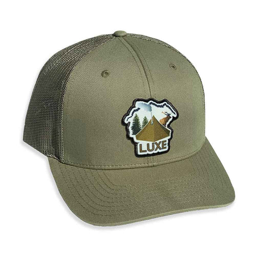 Luxe Tipi Camping Trucker Hat in One-size Fits All