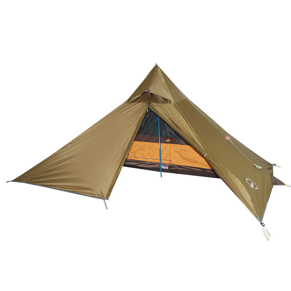 Minipeak Pyramid Solo Backpacking Tent in Brown