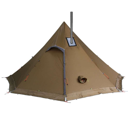 Octopeak Ultralight Wood Stove Tent Pipe in Brown
