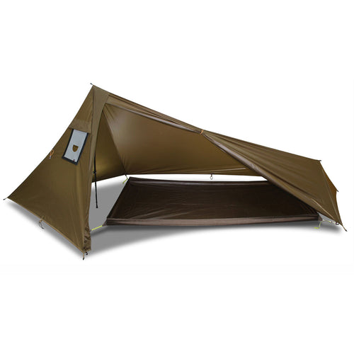 Rocket XL Tarp Wood Stove Shelter and 1p Bathtub Floor