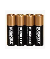 Batteries - Duracell AA (4 pack) - Kooshy Kids