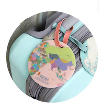 World Map Luggage Tag - Kooshy Kids