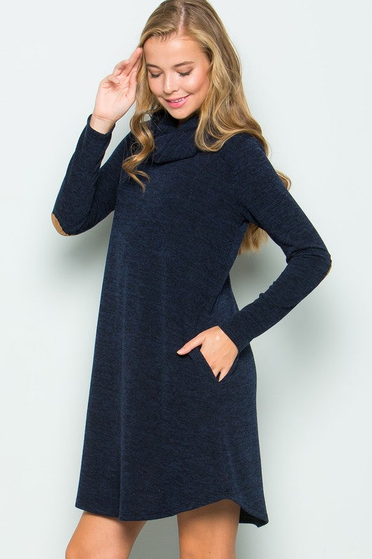 03dbcdeeff2 Navy Turtleneck Sweater Dress – Barnberry Lane