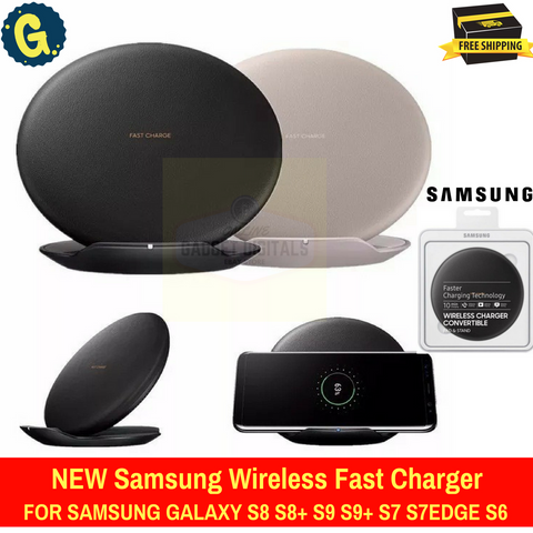 Genuine Samsung Convertible Galaxy Wireless Charger Charging Plate Pad S8 S8+ S9