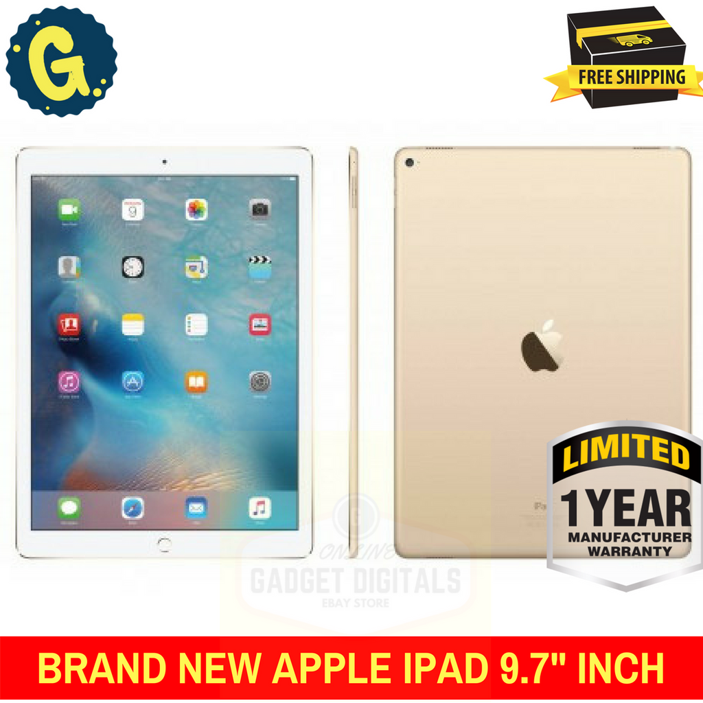 BRAND NEW APPLE IPAD 9.7 INCH (2017) 32GB WIFI TABLE WITH Gold - 1 Year Apple Warranty