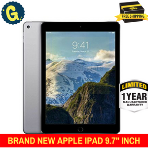 BRAND NEW APPLE IPAD 9.7 INCH (2017) 32GB WIFI TABLE WITH Space Grey - 1 Year Apple Warranty