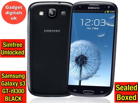Brand New Samsung Galaxy s3 i9300 Black Simfree Unlocked Android Smartphone