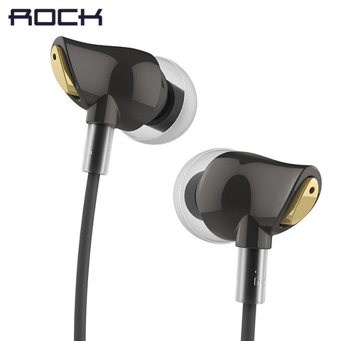 Rock Luxury Zircon Stereo earphone Headphones Headset 3.5mm Earphone Earbuds for iphone Samsung with Mic and Remote