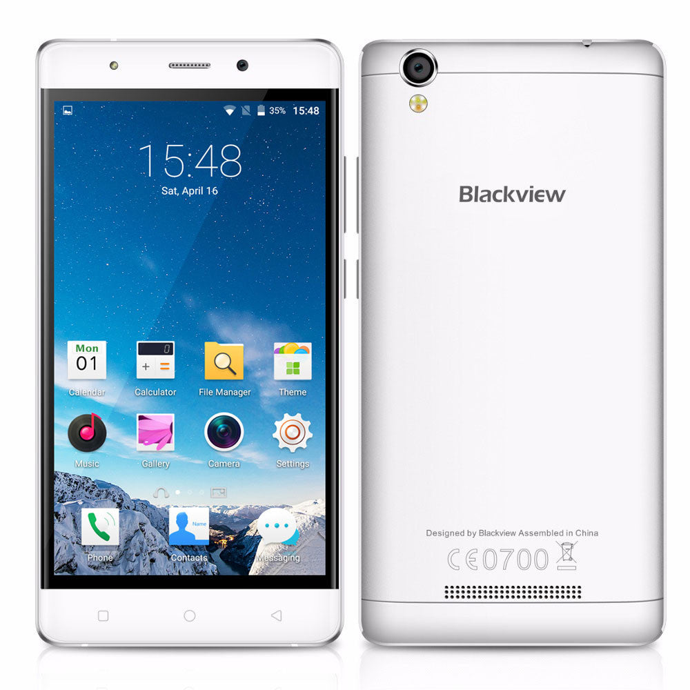 Original Blackview A8 mobile phone MTK6580 Quad core 5.0 inch HD screen smartphone
